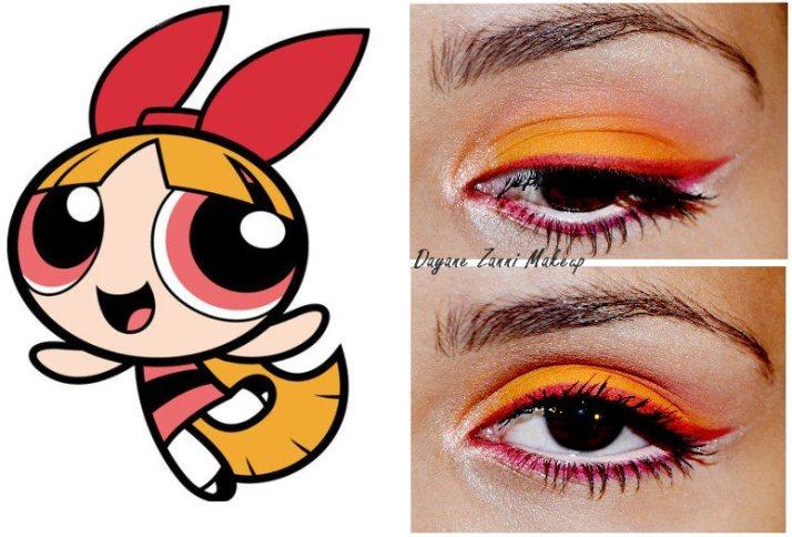 Blossom-inspired eye makeup