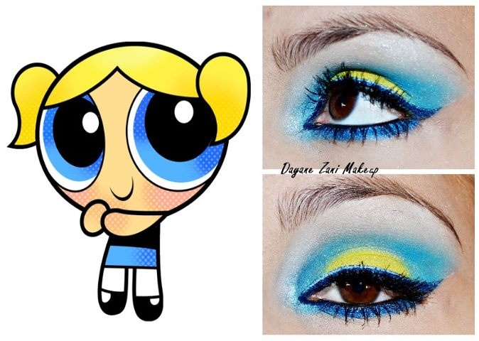 Bubbles-inspired eye makeup