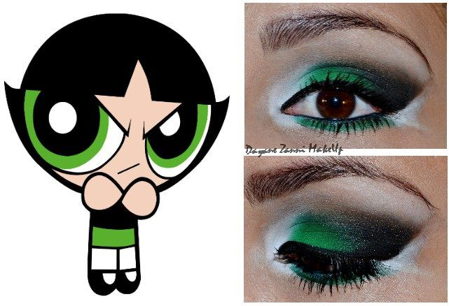 Buttercup-inspired eye makeup