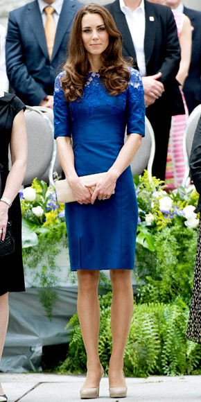 Kate in her trustworthy L.K. Bennett Sledge Pumps