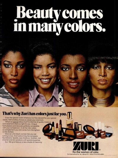 Zuri ad in Ebony, 1980