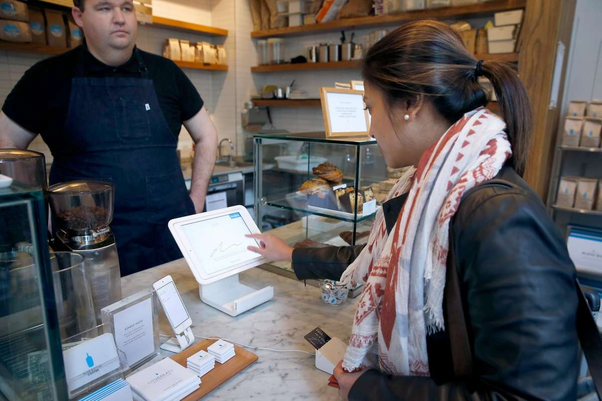 Paying for Blue Bottle coffee by credit card