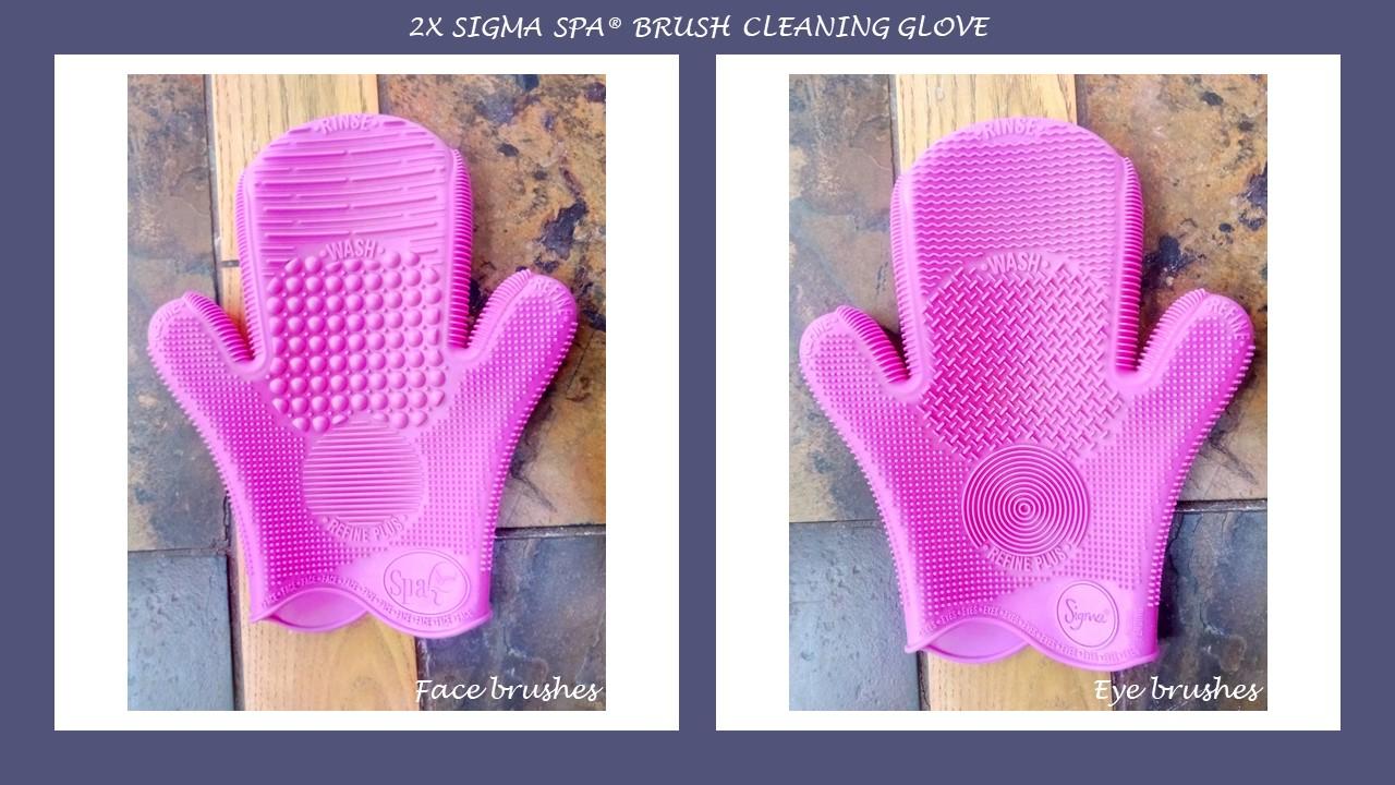 2X Sigma Spa© Brush Cleaning Glove - Pink (1 piece)