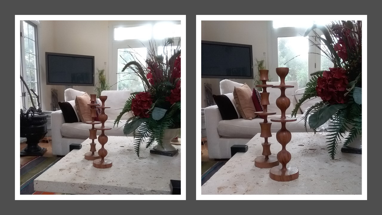 Wooden candlesticks from Barneys New York